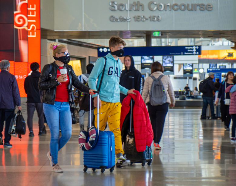 travelers arriving at LAX airport