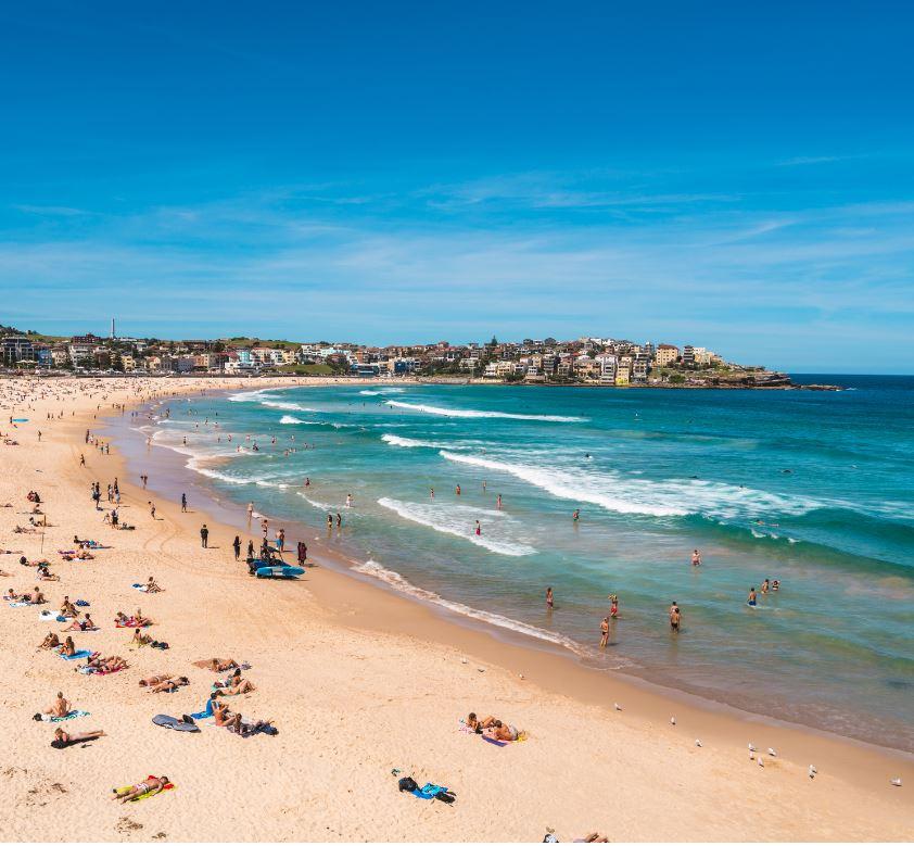 view over Bondi Beach Sydney