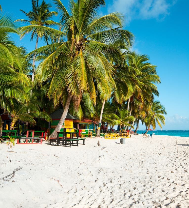 white sand beach in colombia
