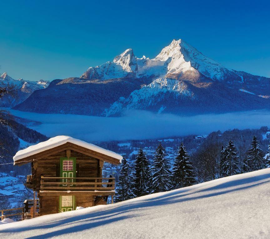 winter scene in German alps