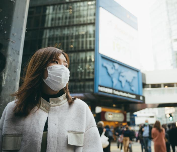 woman mask hong kong