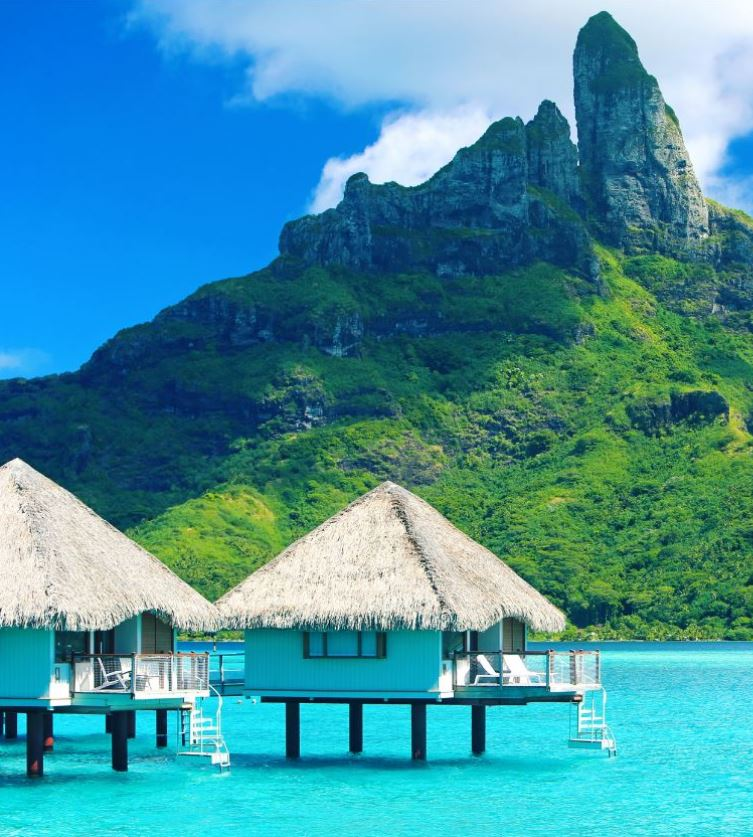 Tahiti aqua blue waters