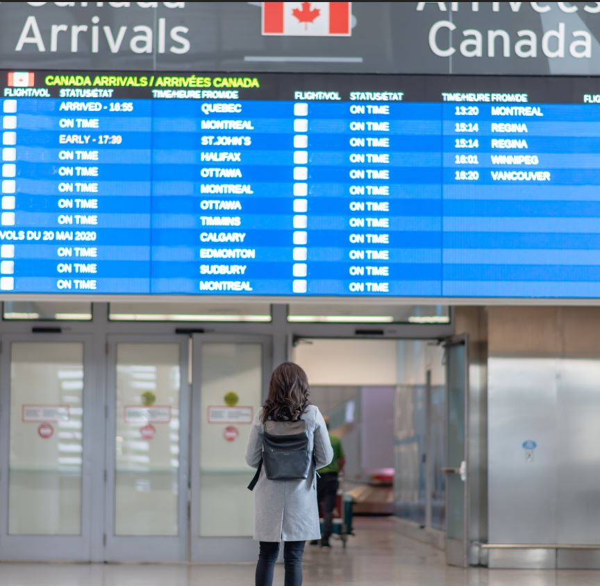 Woman at Canada airport