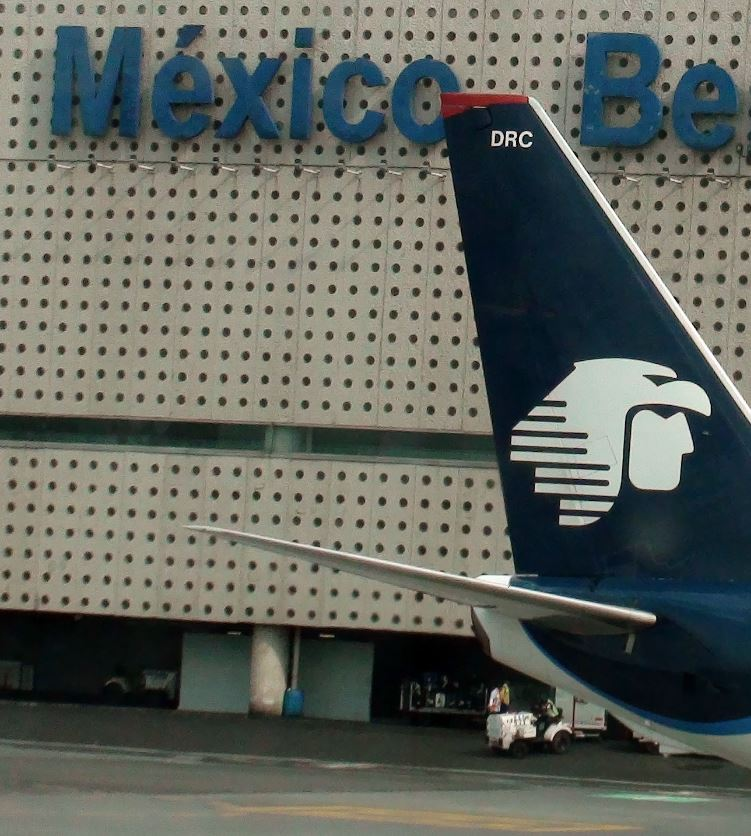 Aeromexico plane at Mexico City Airport