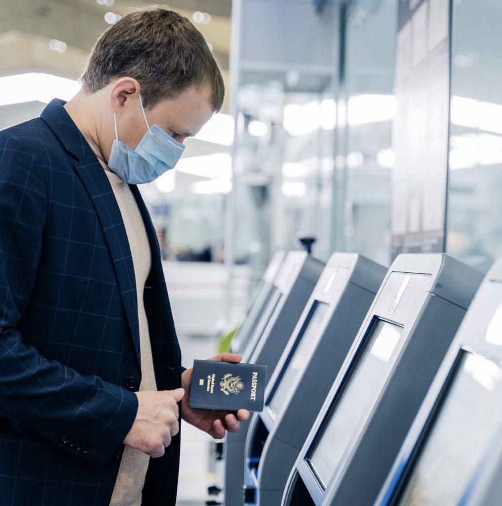 American passenger checkin airport