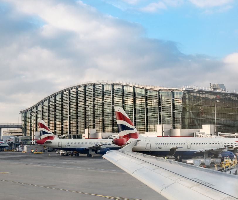 BA planes at Heathrow Terminal 5
