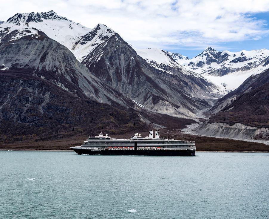 Holland America ship in Alaska