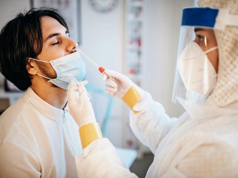 PCR nasal swab test