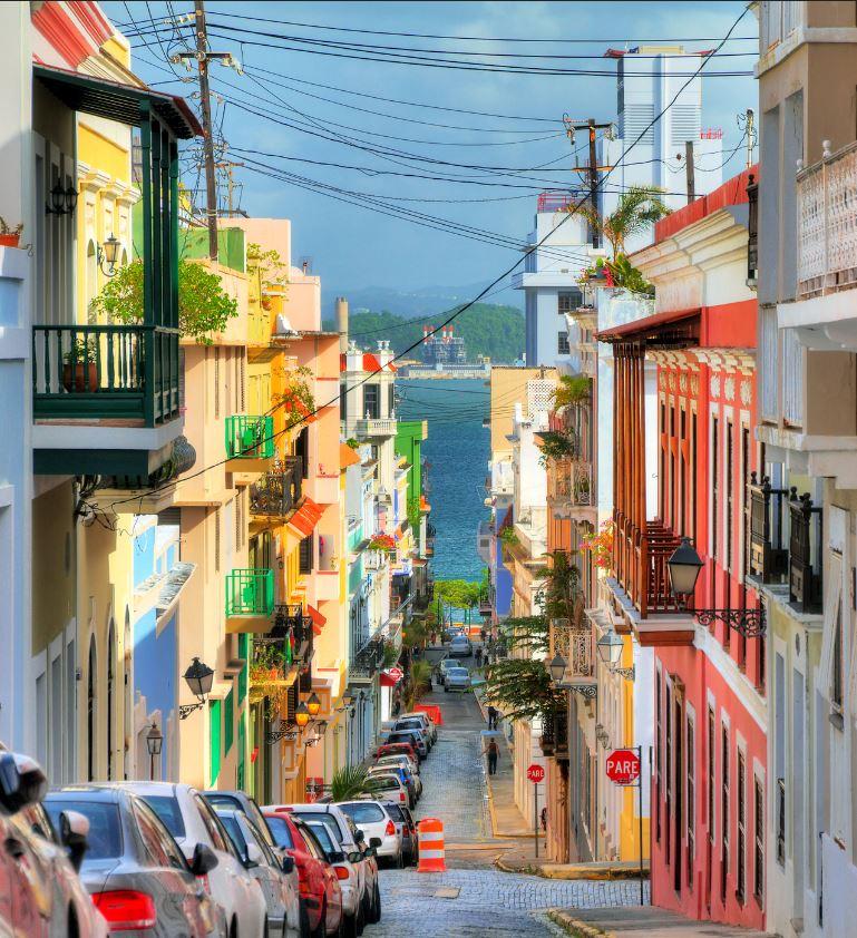 San Juan Street in Puerto Rico