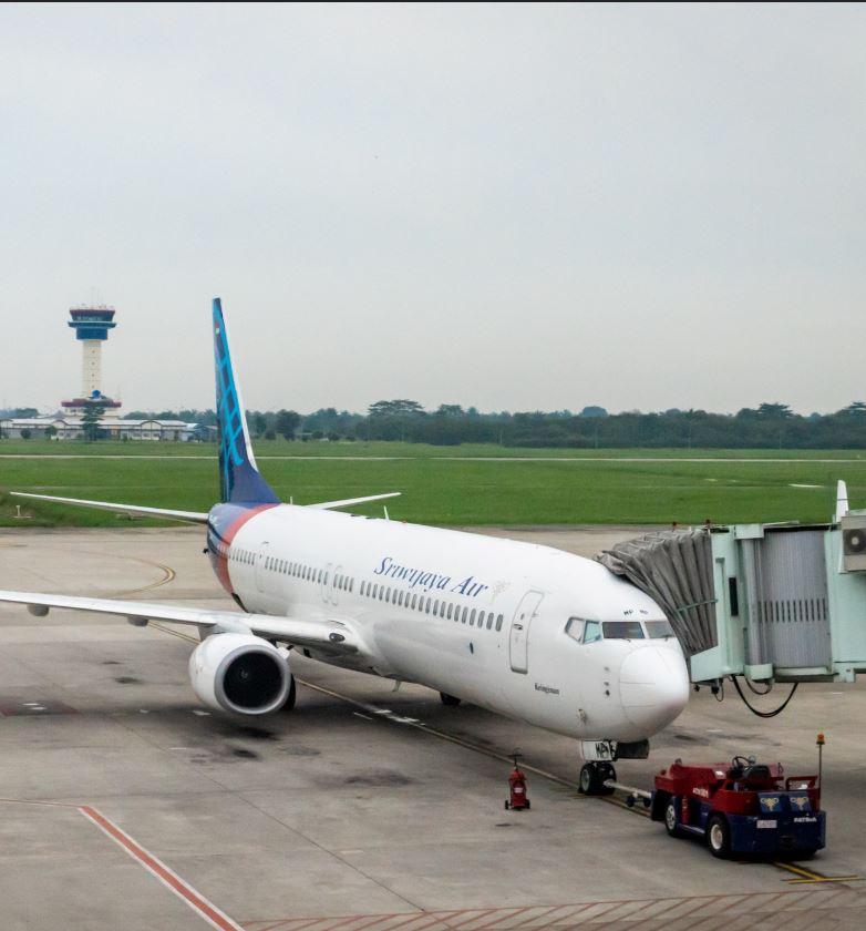 Sriwijaya Airplane at terminal before take off