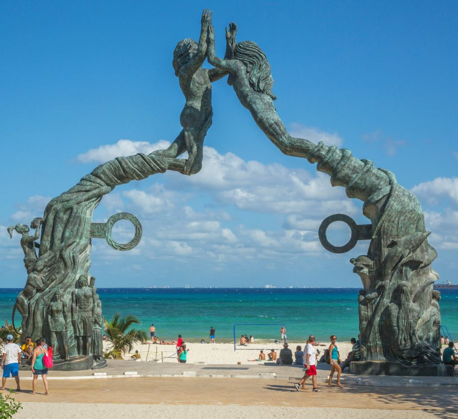 Statue in Quintana Roo on Beach
