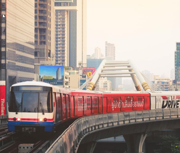 bts sky train bangkok
