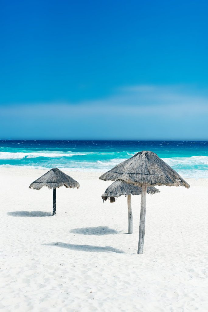 Beautiful beach in Cancun, Mexico - Playa Delfines.