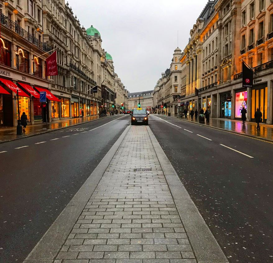 emptry streets during UK lockdown