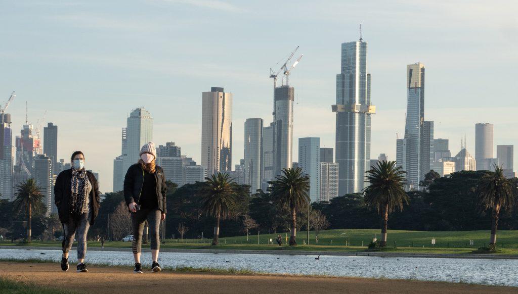 Melbourne Mask skyline