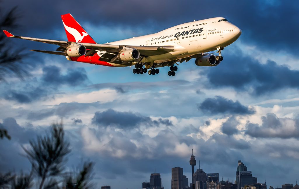qantas plane flight