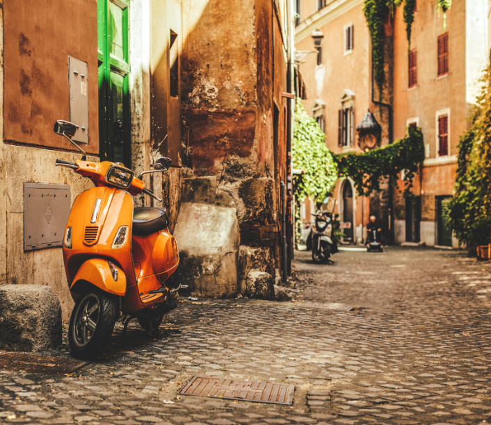 italy rome street vespa