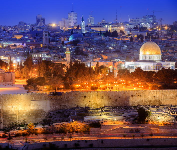jerusalem israel night