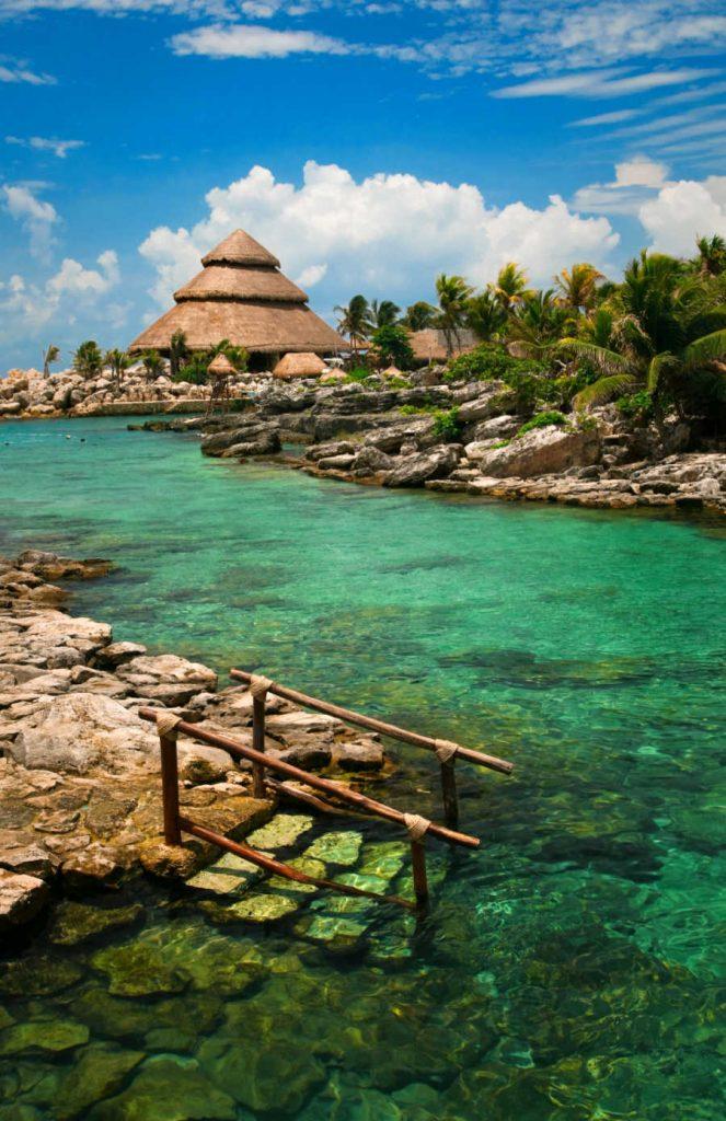 mexican caribbean resort lagoon