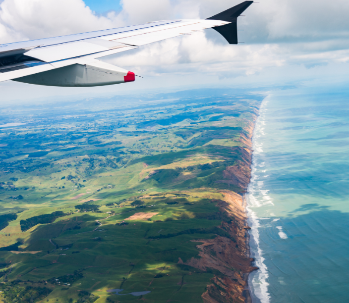 new zealand plane window shore