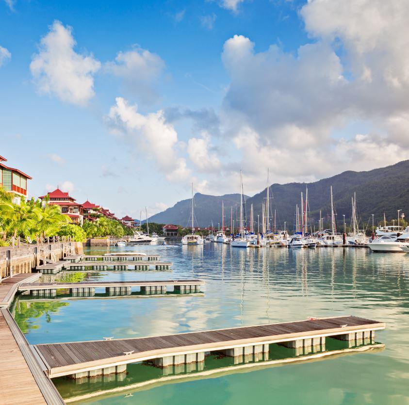 Seychelles boardwalk