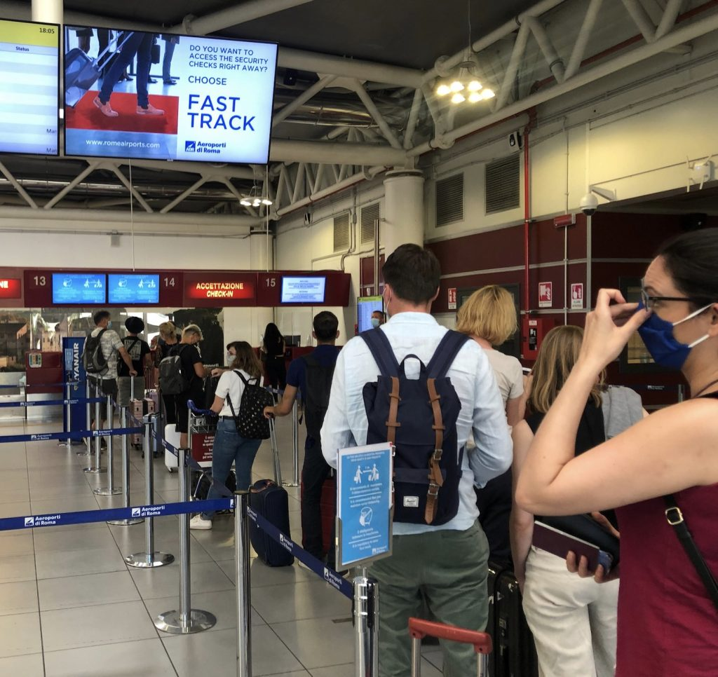 travelers Rome airport