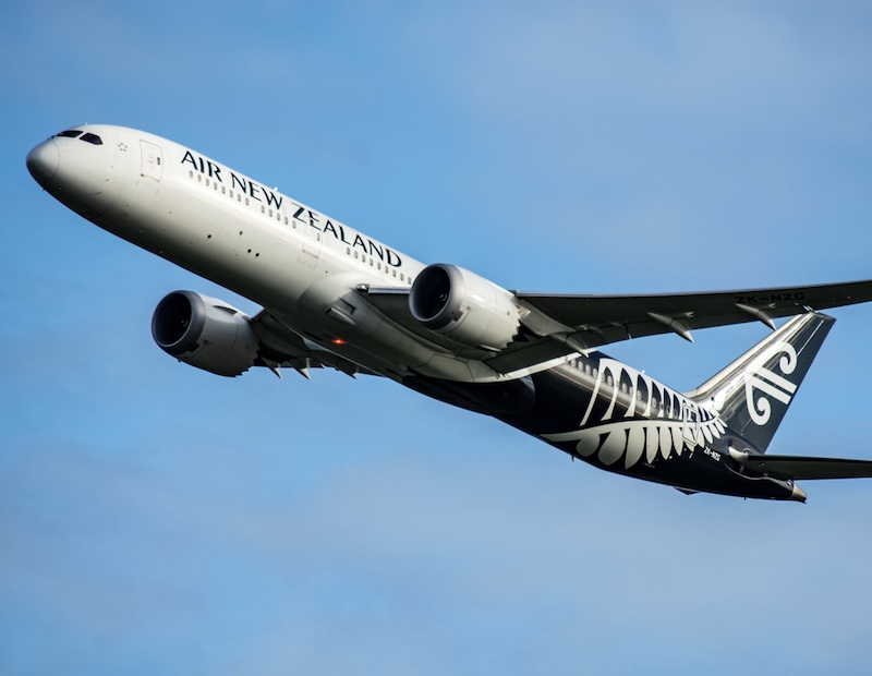 Air New Zealand plane takeoff
