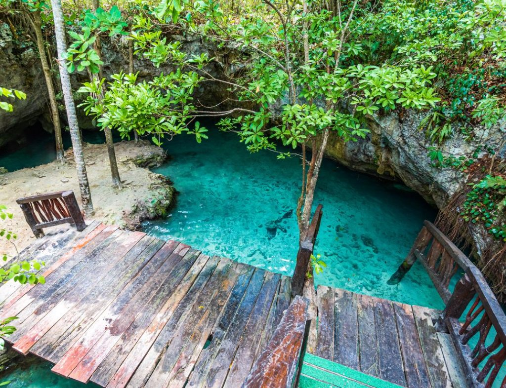 Cenote In Mexican Caribbean