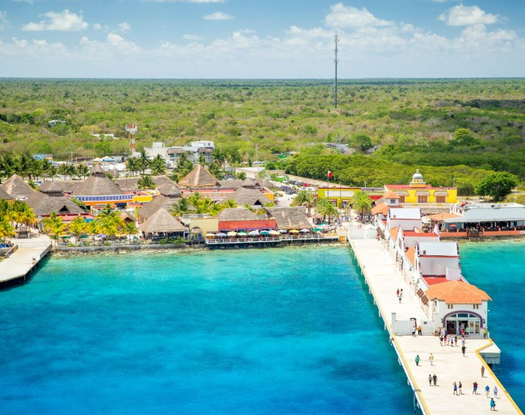 Cozumel Cruise Port aerial view