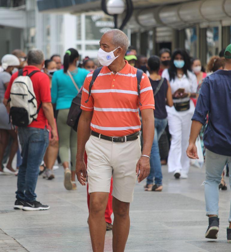 Cuba Tourist in Mask