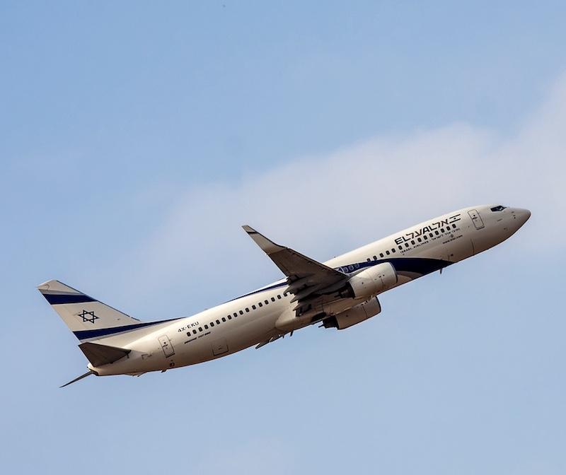 EL AL Boeing 737 lands at the Ben Gurion International Airport