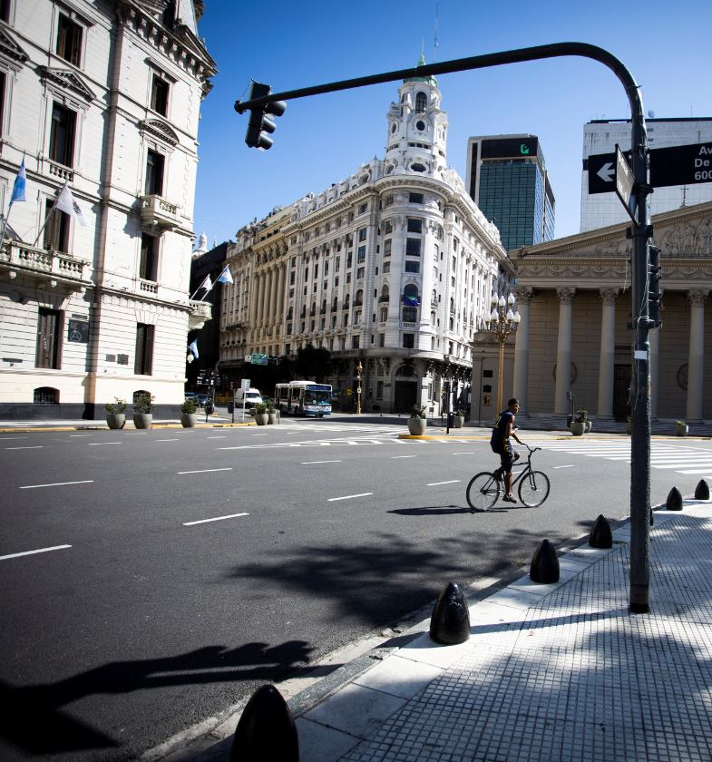 Empty Streets of Buenos Aires During Lockdown