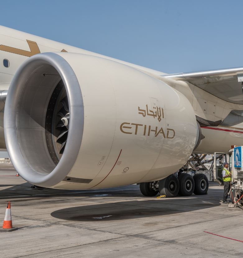 Etihad plane engine