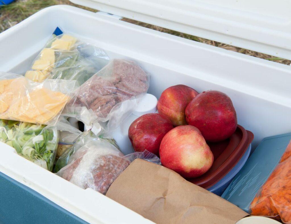 Food in cooler