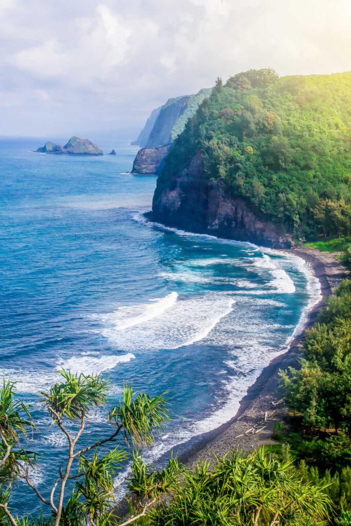 Coastline of the Hawaiian island