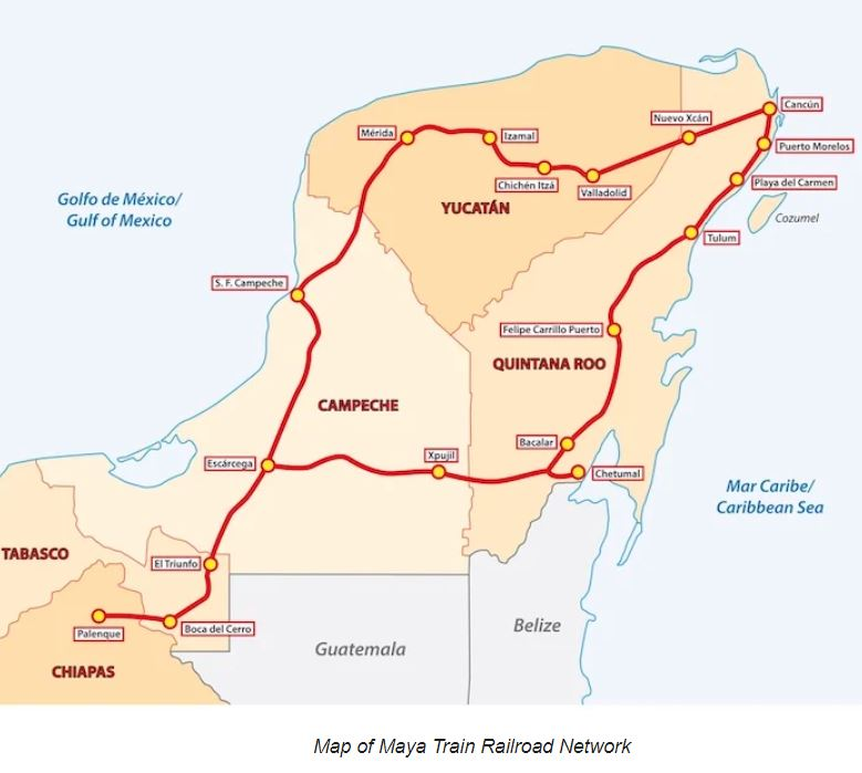 Maya Train Route Map