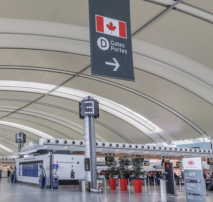 Canadians can only arrive at 4 airports
