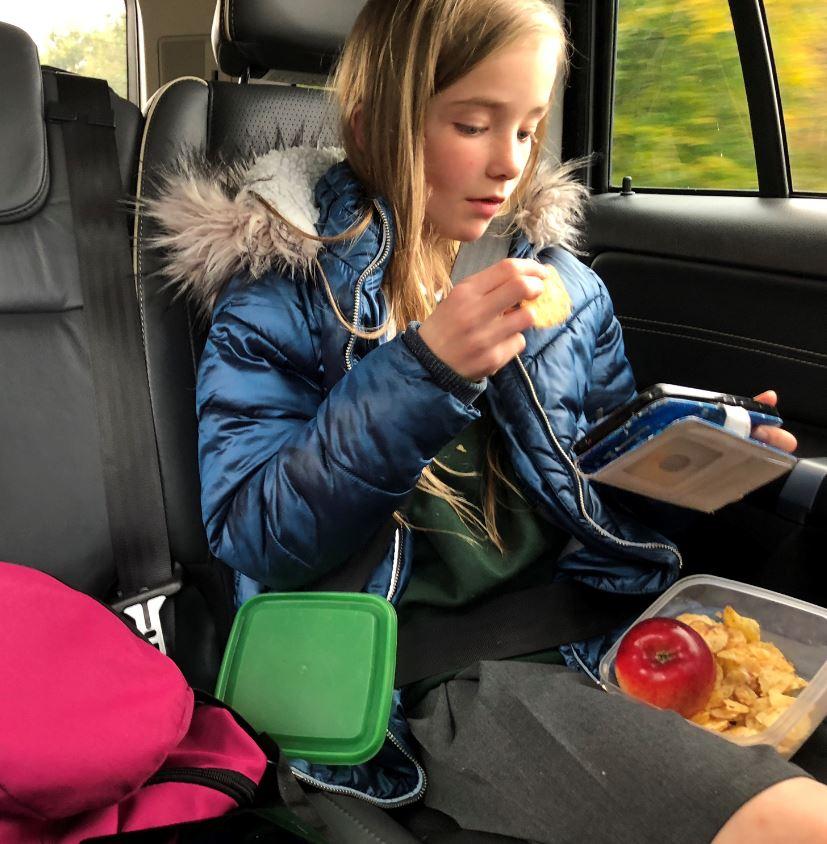 snacks in car