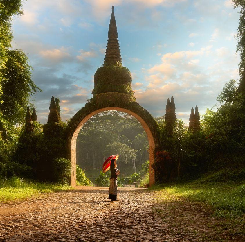 Thailand tourist at temple
