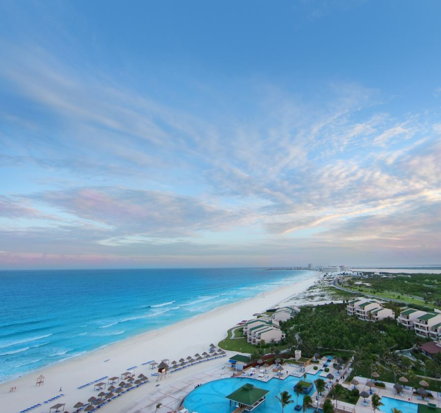 Tourist beach cancun