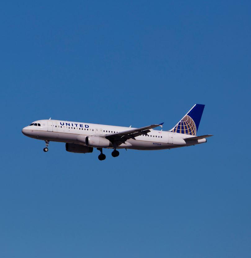 united airplane in air