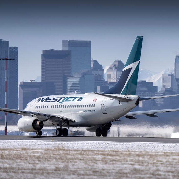 WestJet plane Calgary