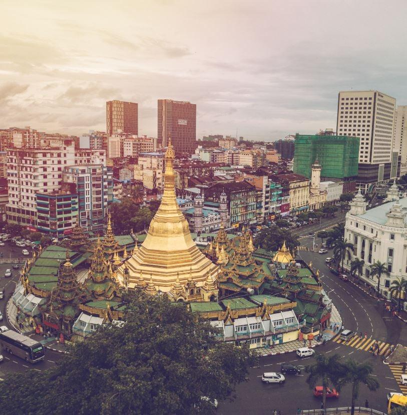 Yangon city, Burma