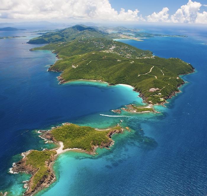 aerial view of US Virgin Islands