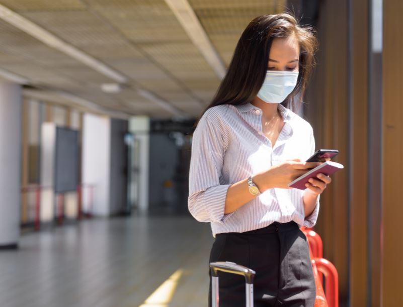 airport mask phone