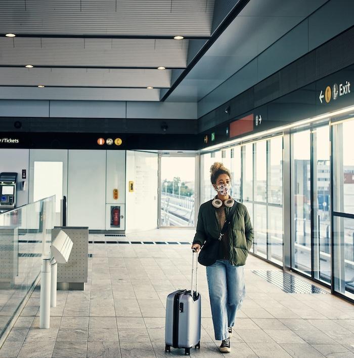 mask traveler suitcase