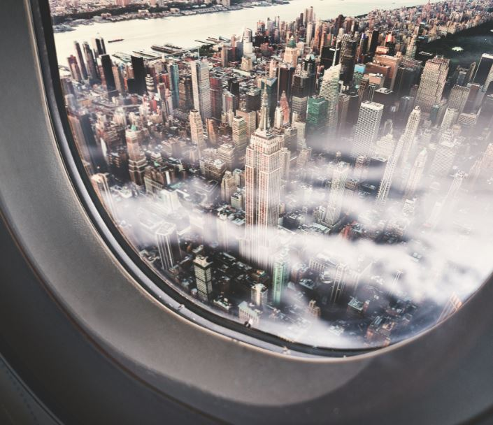 new york view window plane