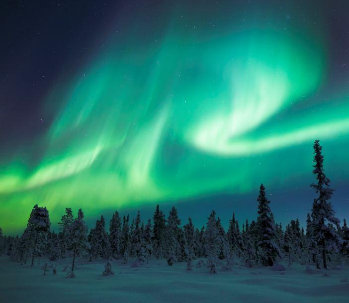 northern lights aurora borealis sweden
