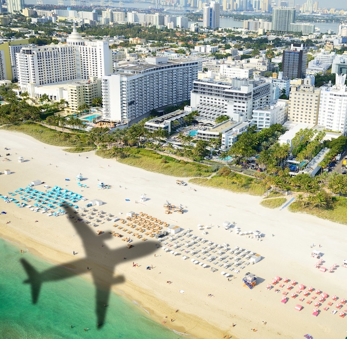 plane above Miami