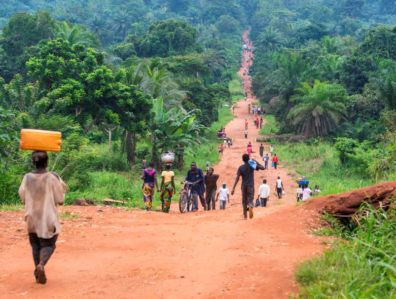 rural road congo
